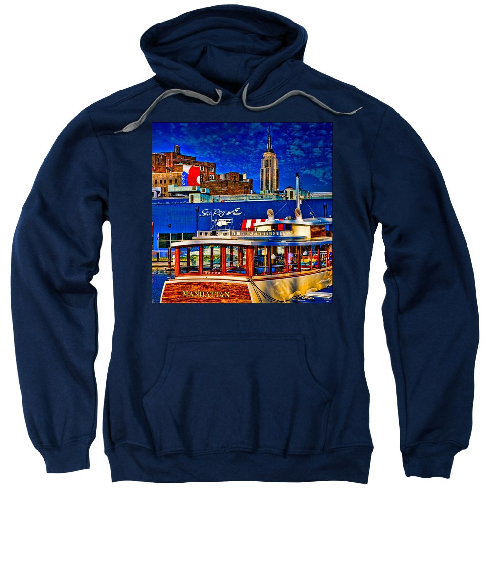 Hdr Sweatshirt featuring the photograph Manhattan by Chris Lord