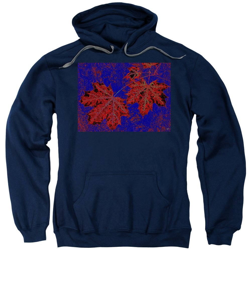 Cheerful Sweatshirt featuring the digital art Maple Mania 15 by Will Borden