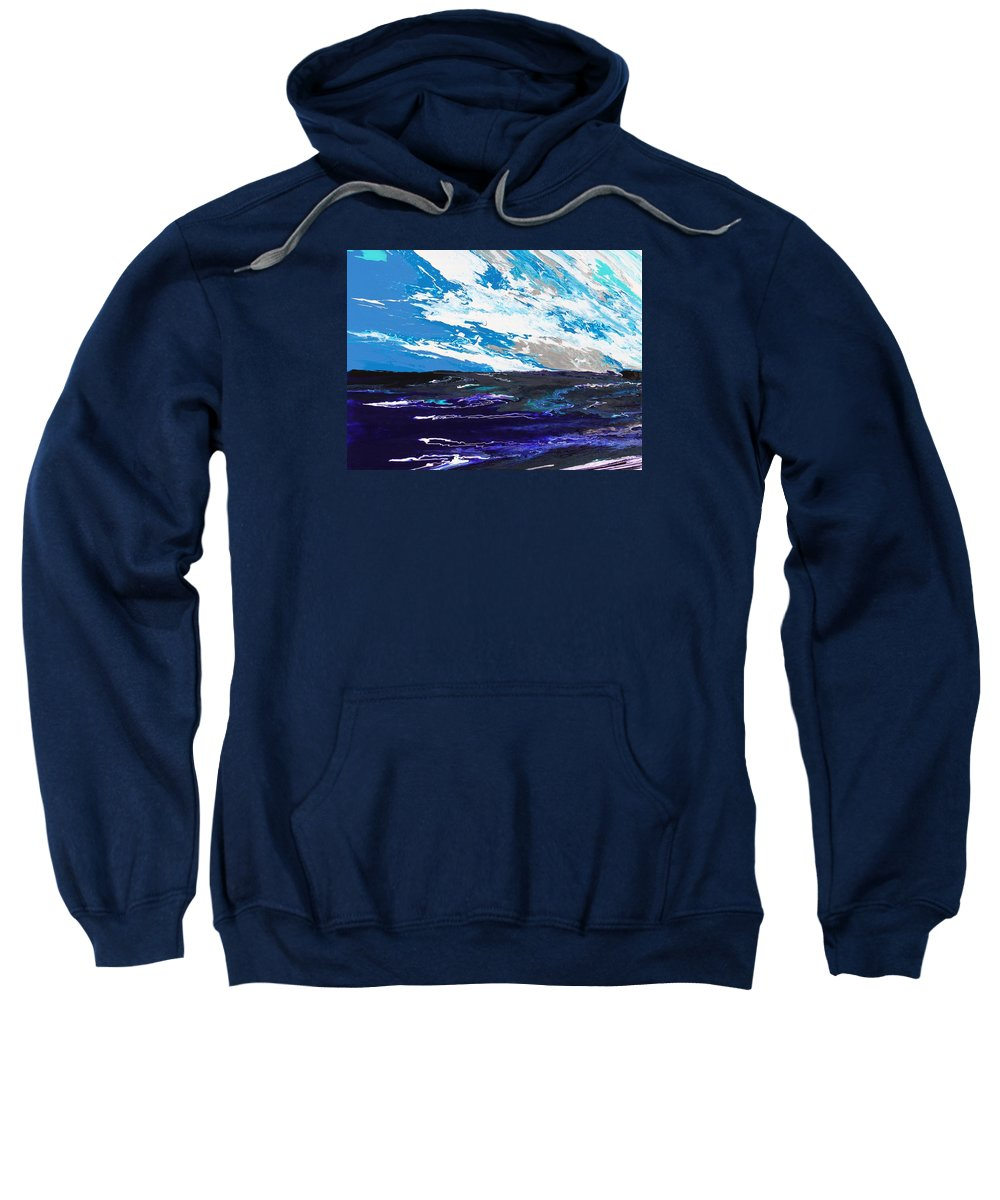 Fusionart Sweatshirt featuring the painting Mariner by Ralph White