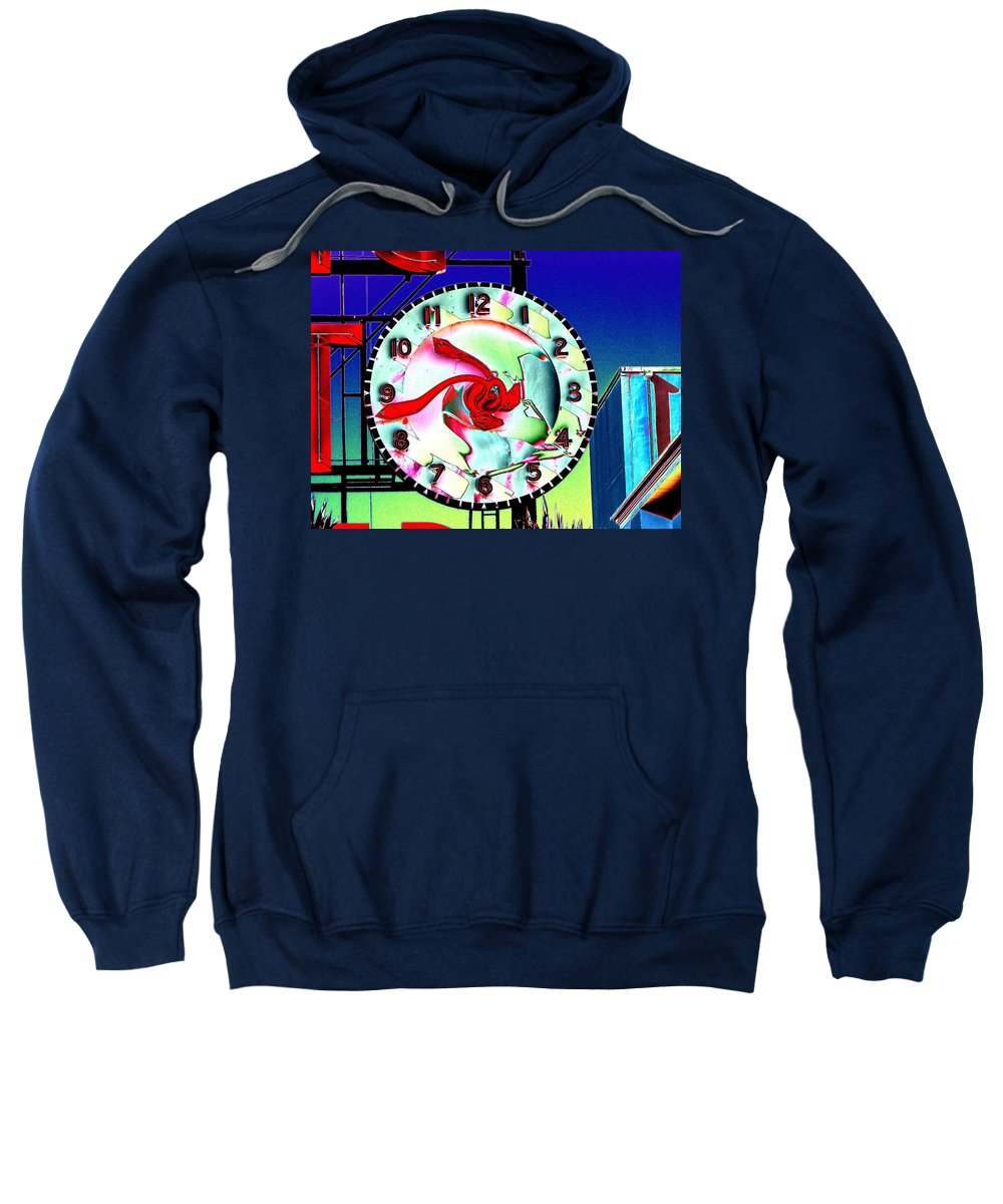 Seattle Sweatshirt featuring the photograph Market Clock 2 by Tim Allen