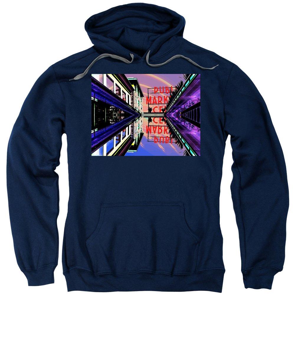 Seattle Sweatshirt featuring the digital art Market Entrance by Tim Allen