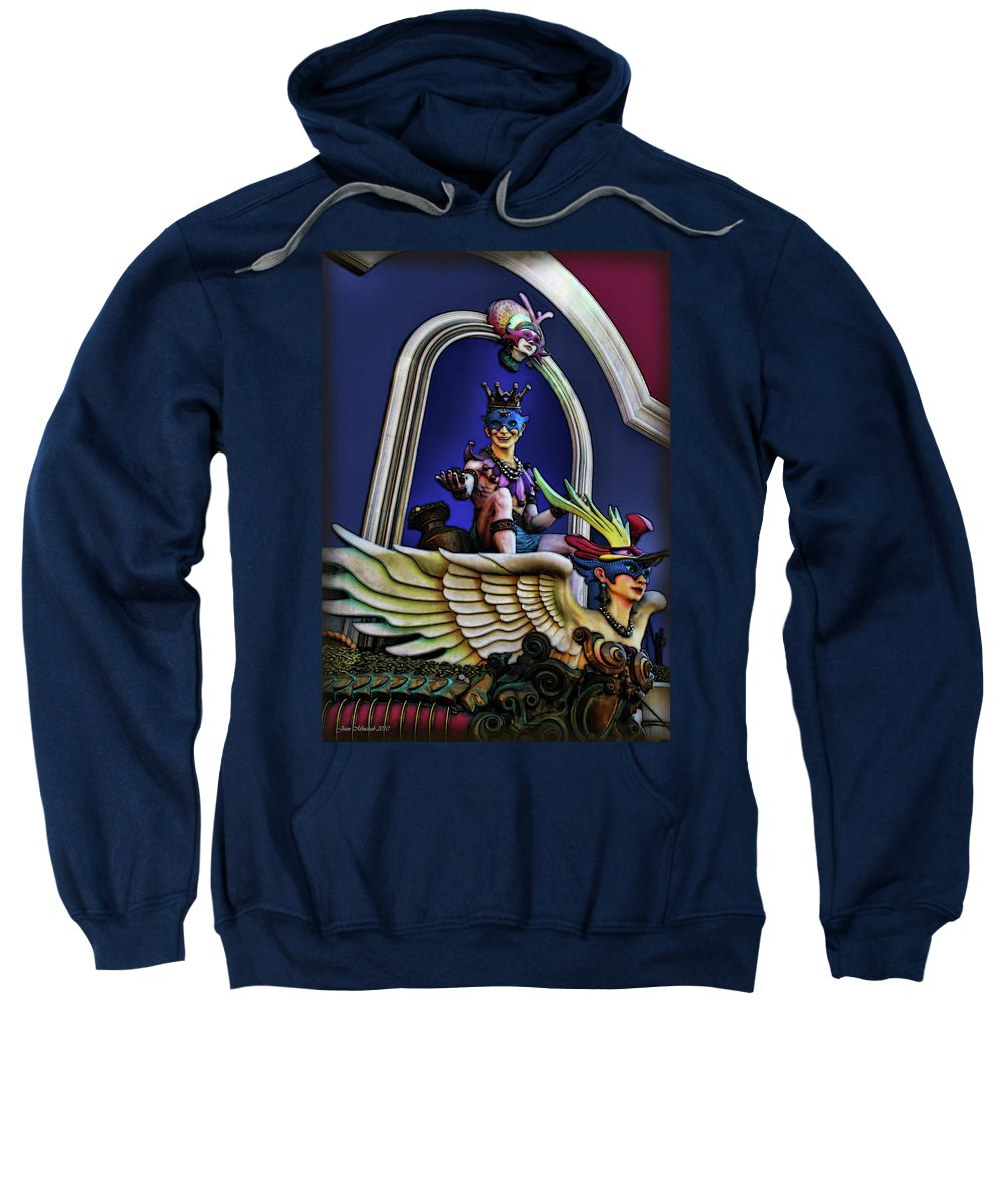 Costume Sweatshirt featuring the digital art Masquerade by Joan Minchak