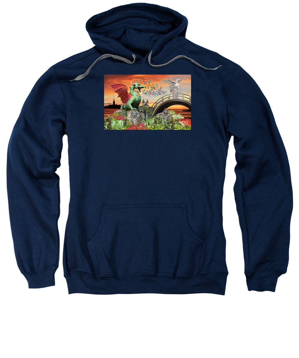Surreal Art Sweatshirt featuring the photograph Medusa's Realm at Sunset by Lucy Arnold