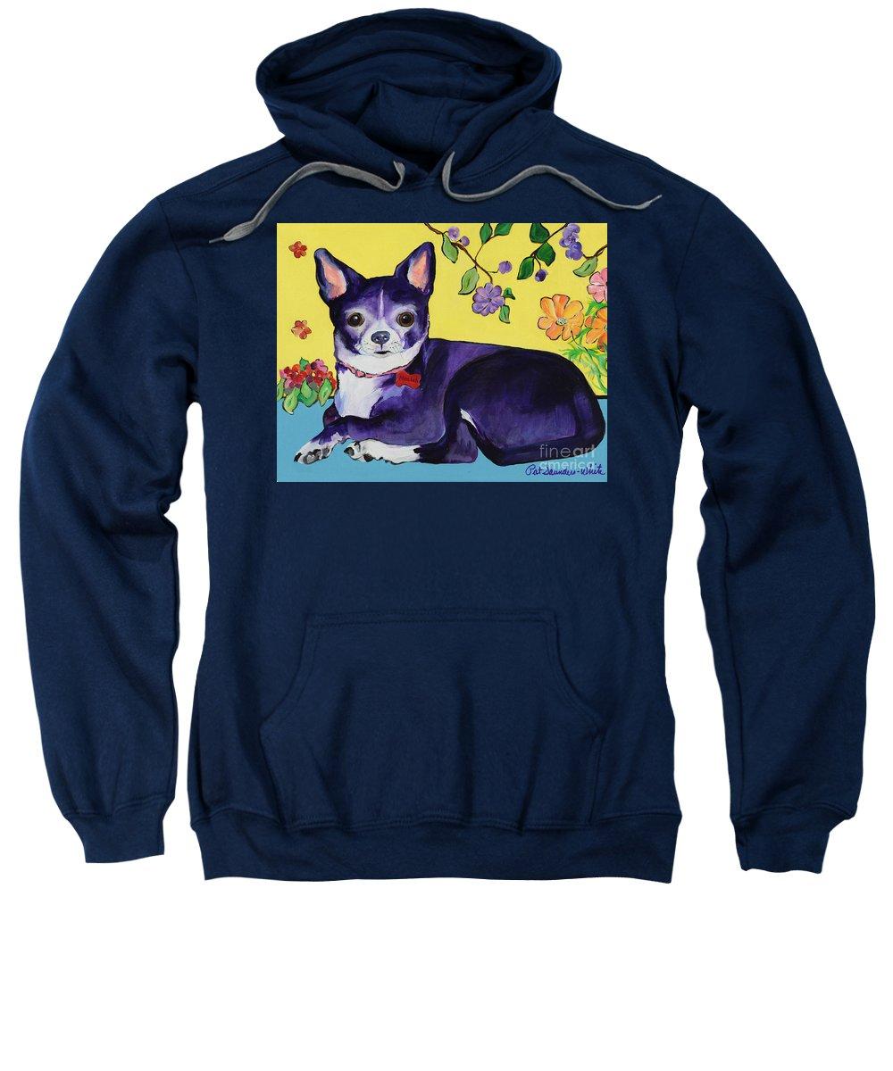 Sweatshirt featuring the painting Meelah by Pat Saunders-White