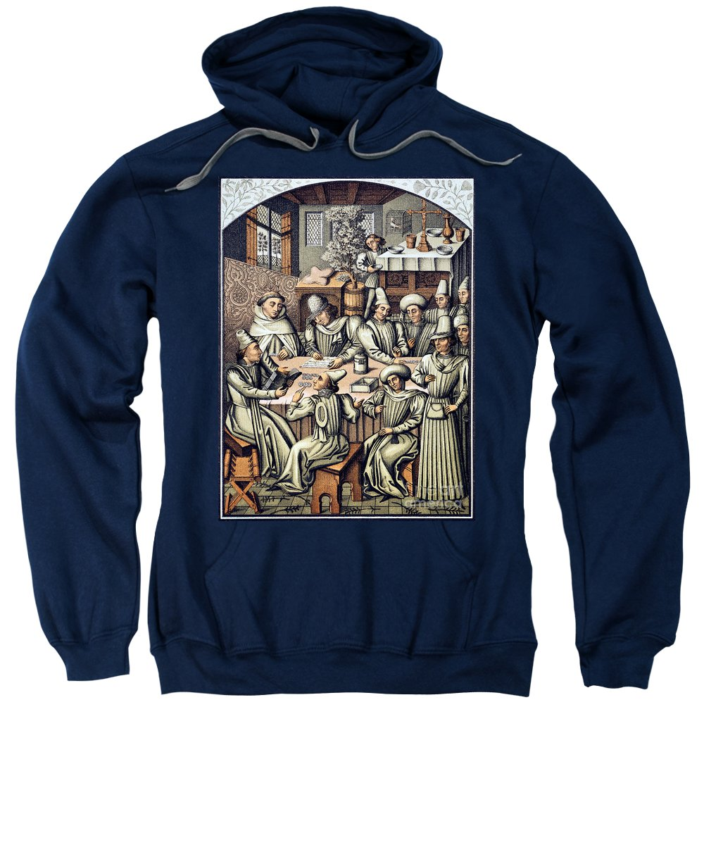 15th Century Sweatshirt featuring the photograph Merchants Paying Taxes by Granger