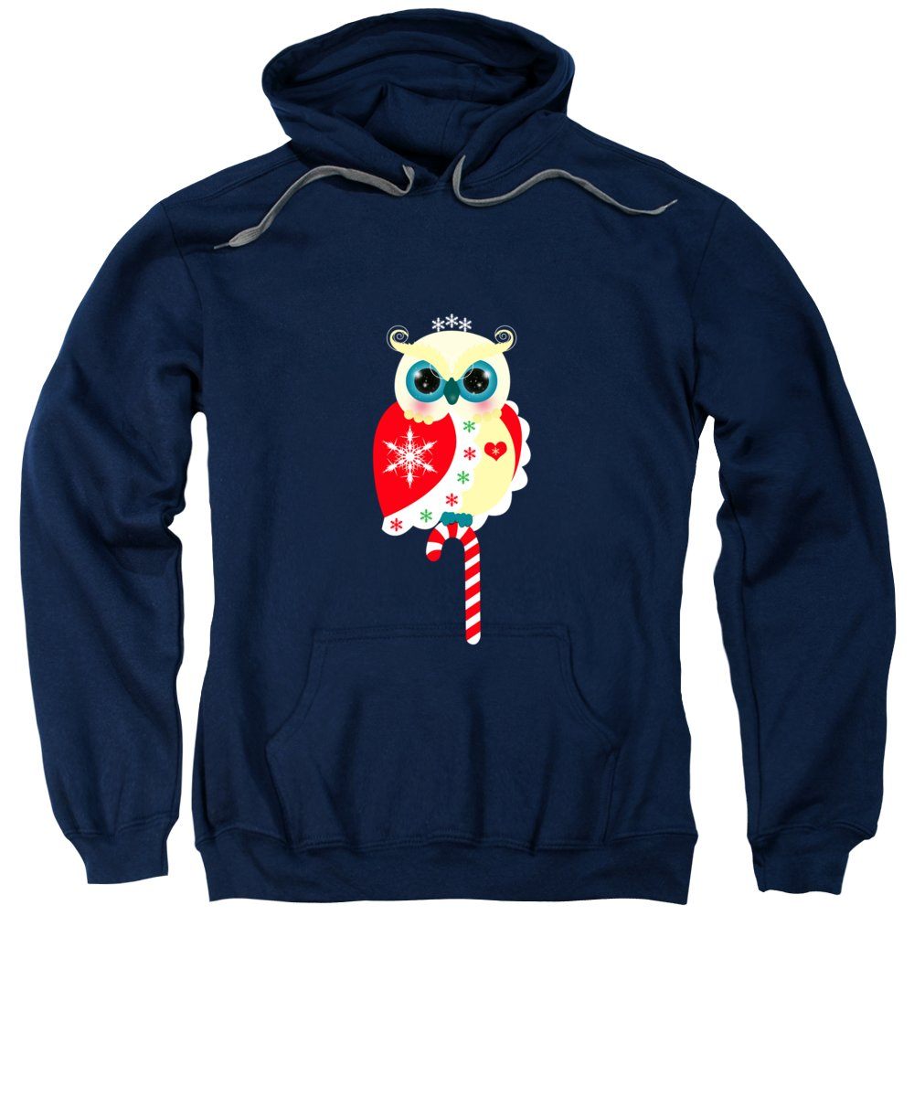 Bird Sweatshirt featuring the digital art Merry Christmas by Isabel Salvador