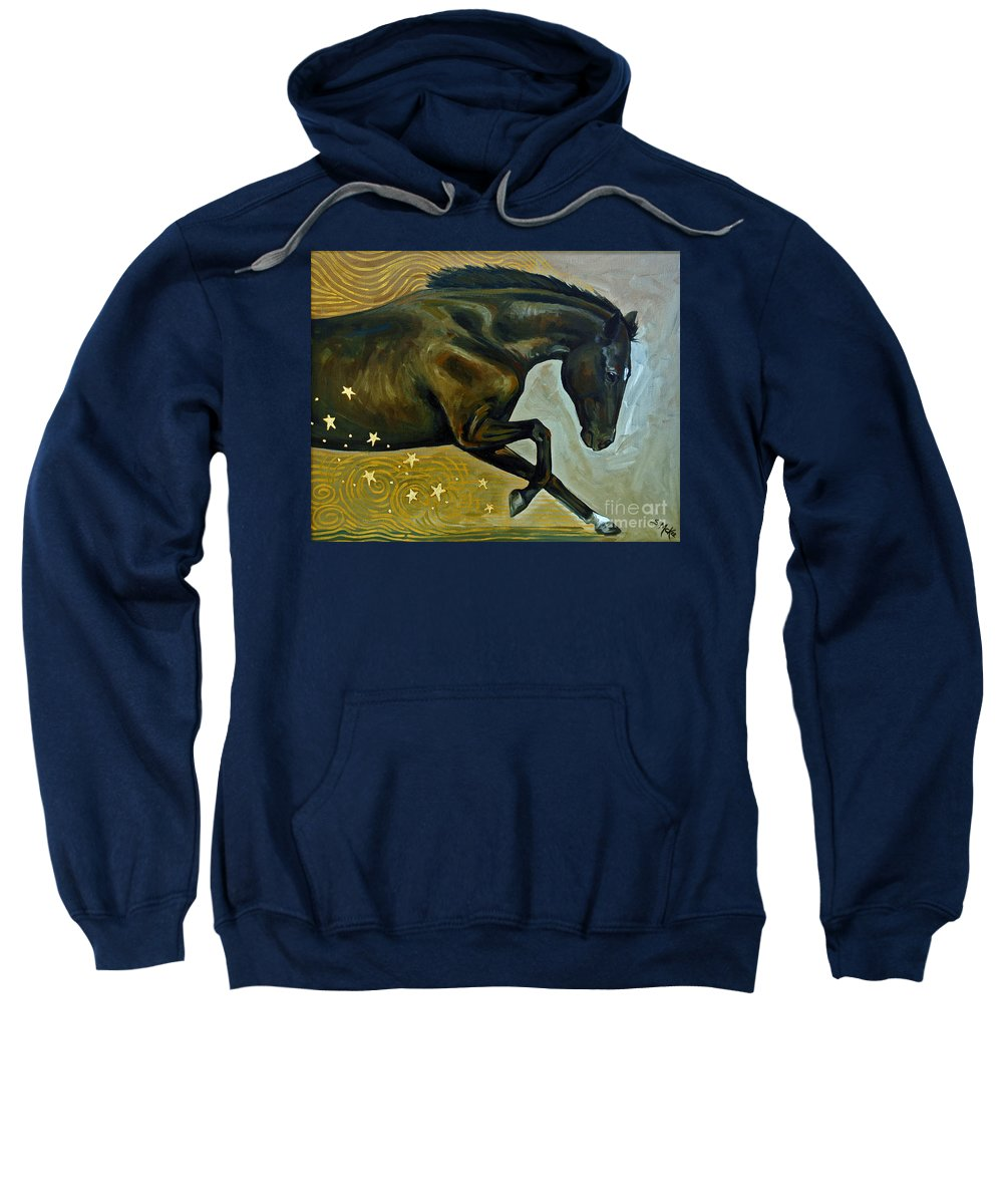 Acrylic Sweatshirt featuring the painting Meteor Shower by Suzanne McKee