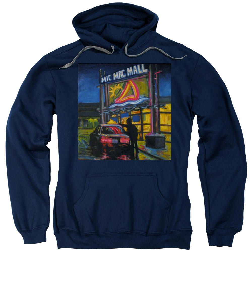 Retail Sweatshirt featuring the painting Mic Mac Mall Spectre Of The Next Great Depression by John Malone