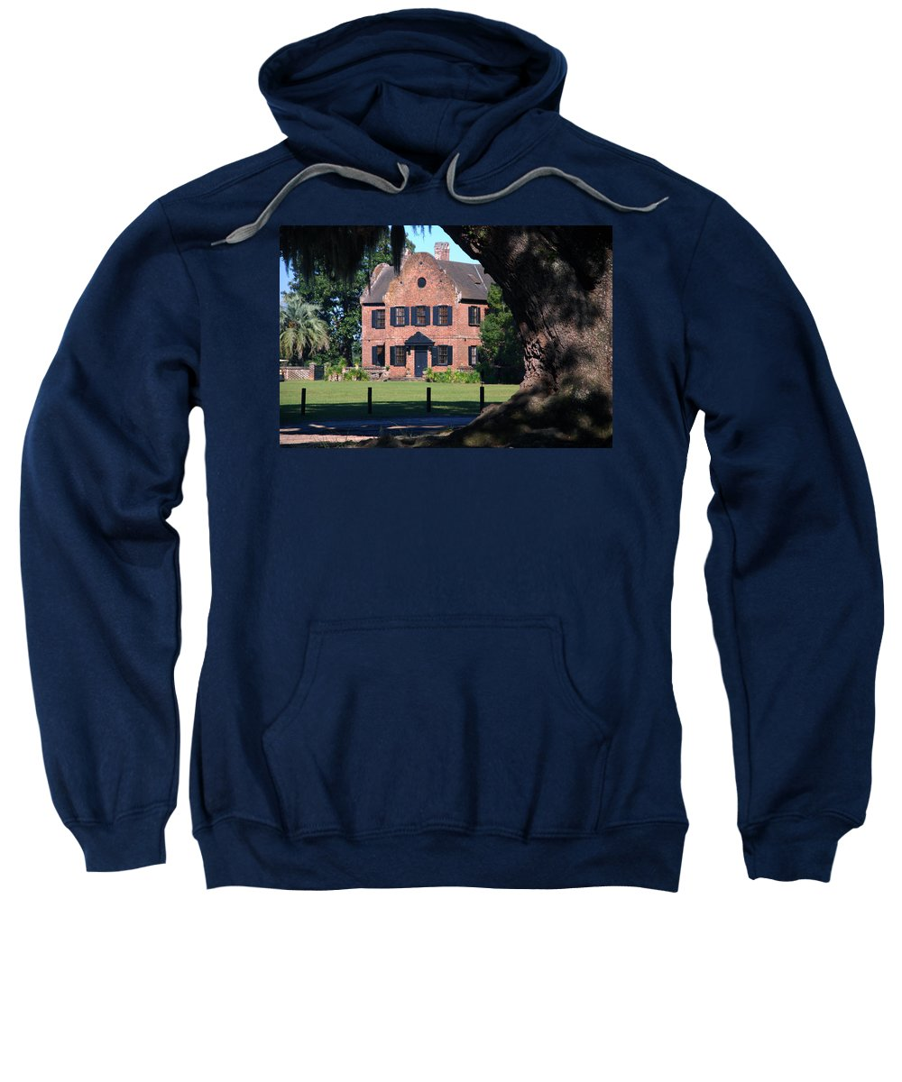 Photography Sweatshirt featuring the photograph Middleton Place Plantation House by Susanne Van Hulst