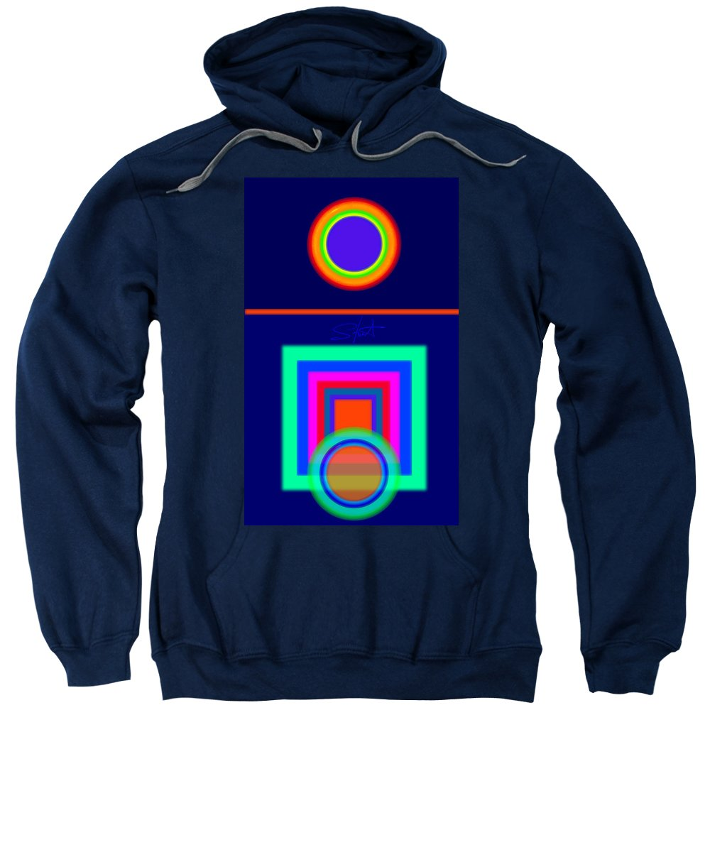 Classical Sweatshirt featuring the digital art Midnight Journey by Charles Stuart