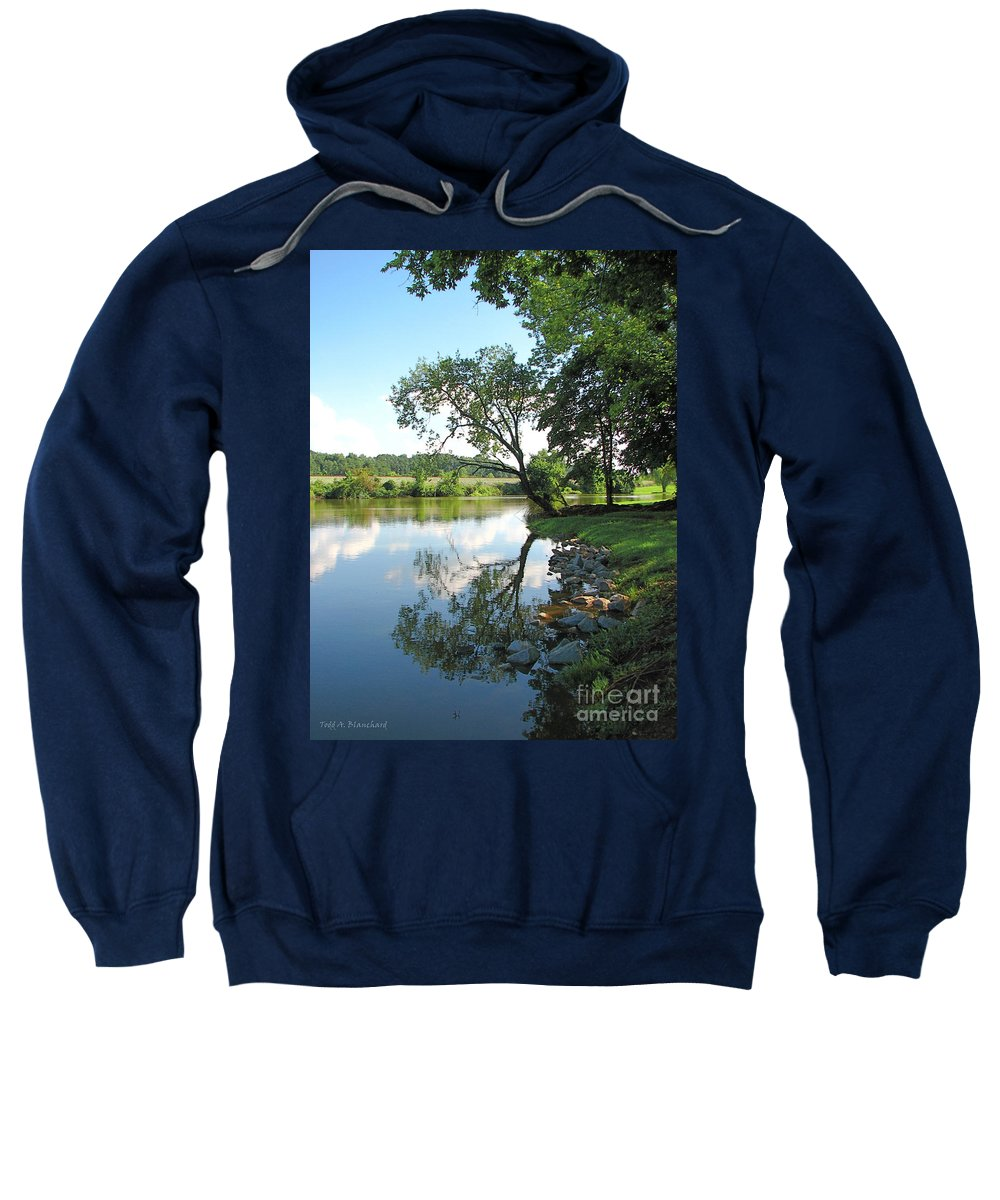 Landscape Sweatshirt featuring the photograph Mirror Image by Todd Blanchard