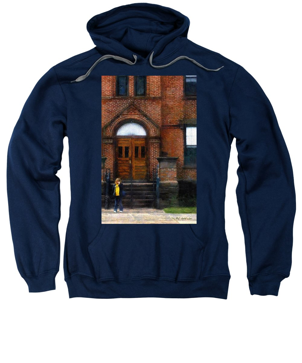 Girl Sweatshirt featuring the painting Missed Bus by RC DeWinter
