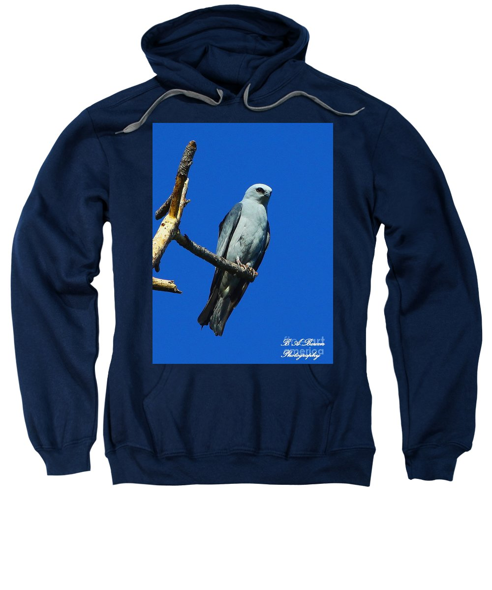 Mississippi Kite Sweatshirt featuring the photograph Mississippi Kite by Barbara Bowen