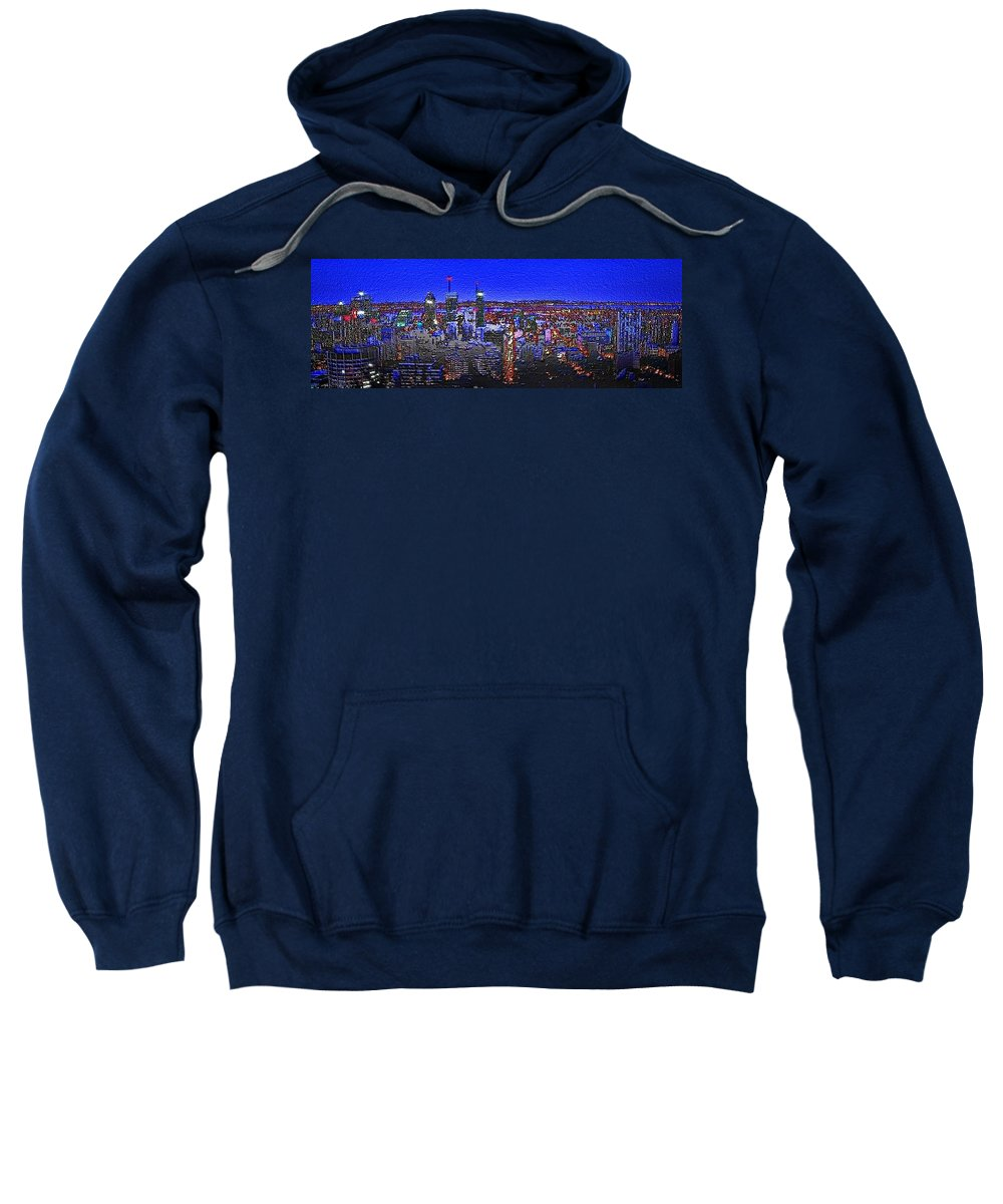 montreal Etched Sweatshirt featuring the digital art Montreal Etched by Mark Taylor