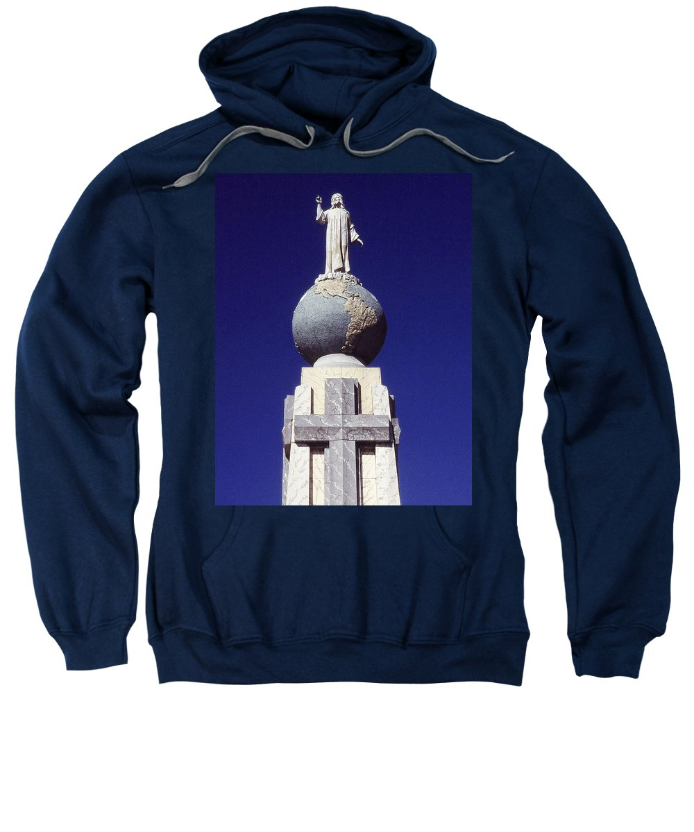 Central America Sweatshirt featuring the photograph Monumento Al Divino Salvador Del Mundo by Juergen Weiss