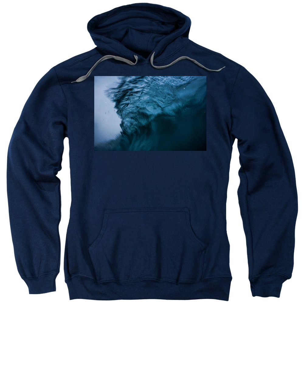 Ocean Sweatshirt featuring the photograph Moody Blues by JJ Tondo