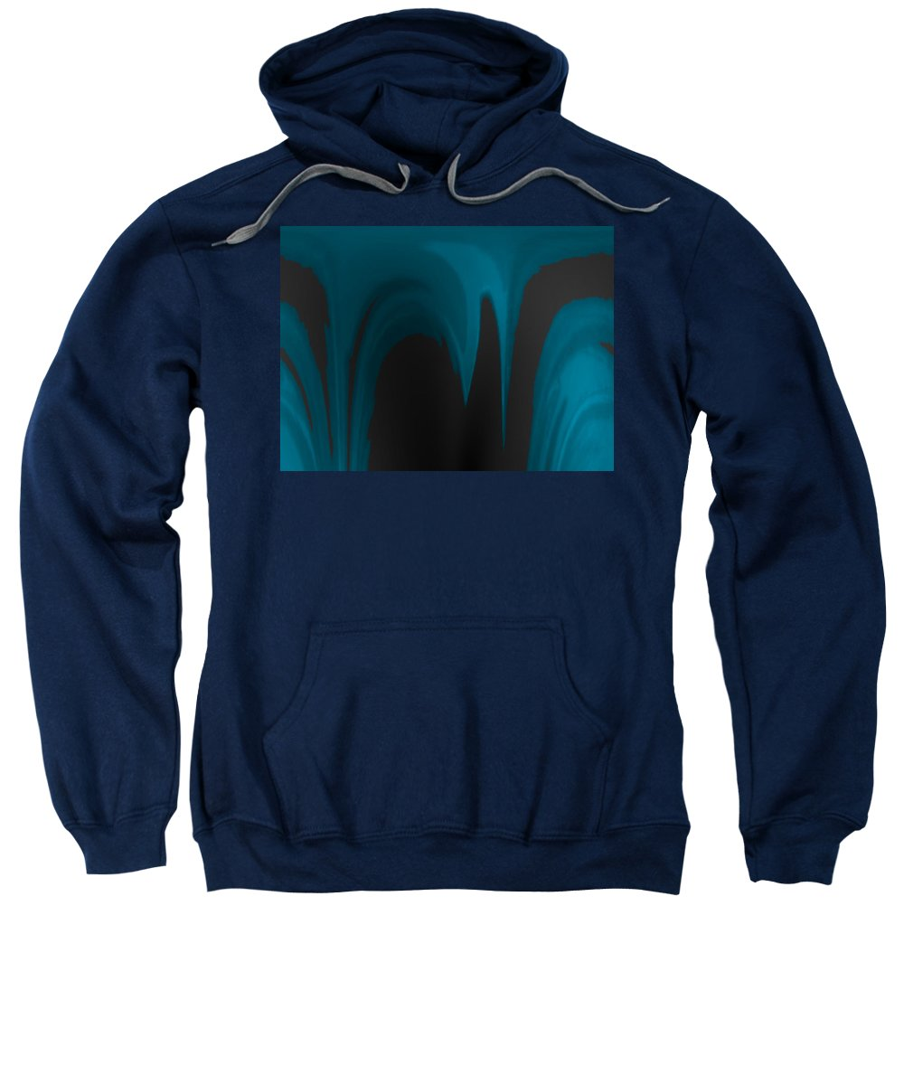 Abstract Sweatshirt featuring the digital art Moon As The Dark Man by Lenore Senior