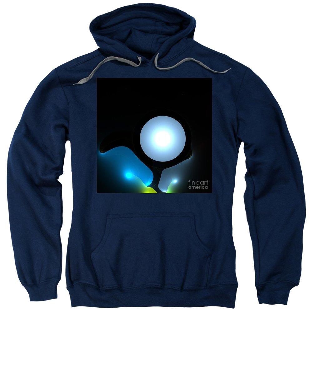 Moon  Sweatshirt featuring the digital art Moon by Steve K