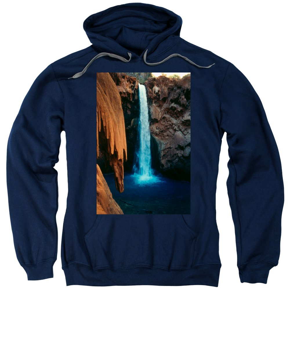 Sweatshirt featuring the photograph Mooney Falls by Heather Kirk