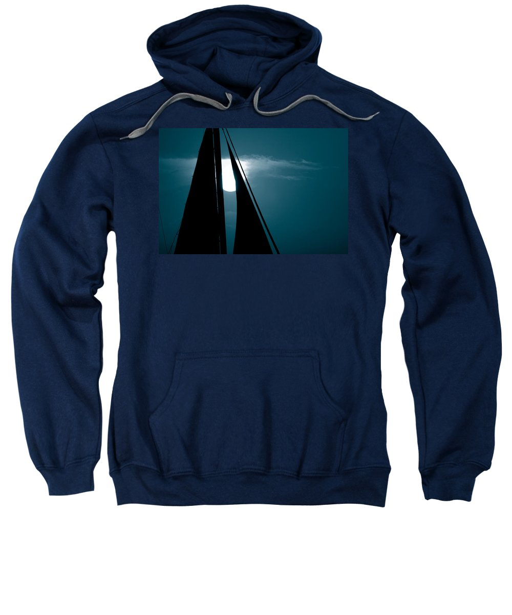 Sails Sweatshirt featuring the photograph Moonlight Sail by Susanne Van Hulst