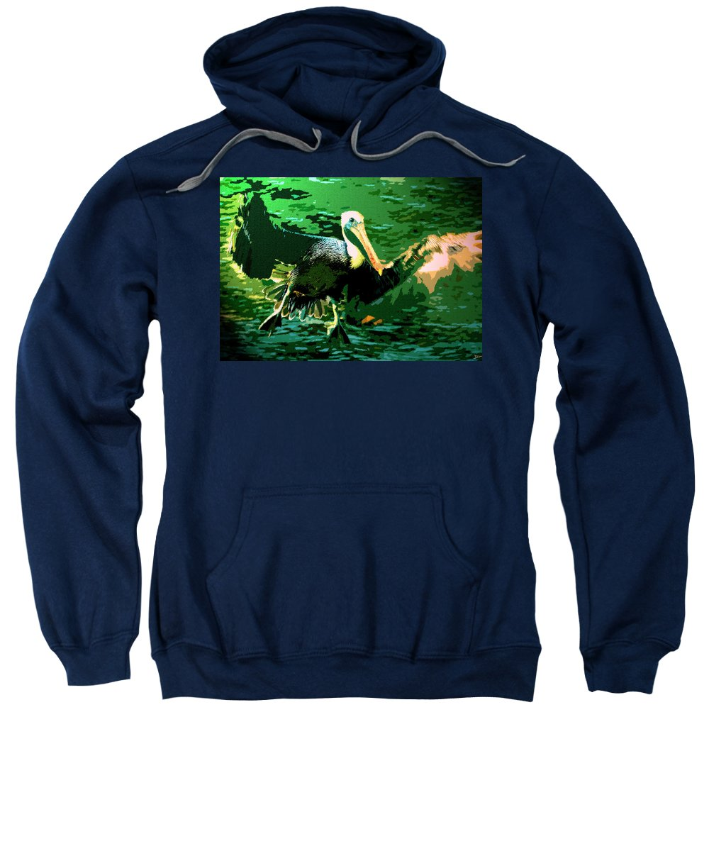 Art Sweatshirt featuring the painting Morning Flight by David Lee Thompson
