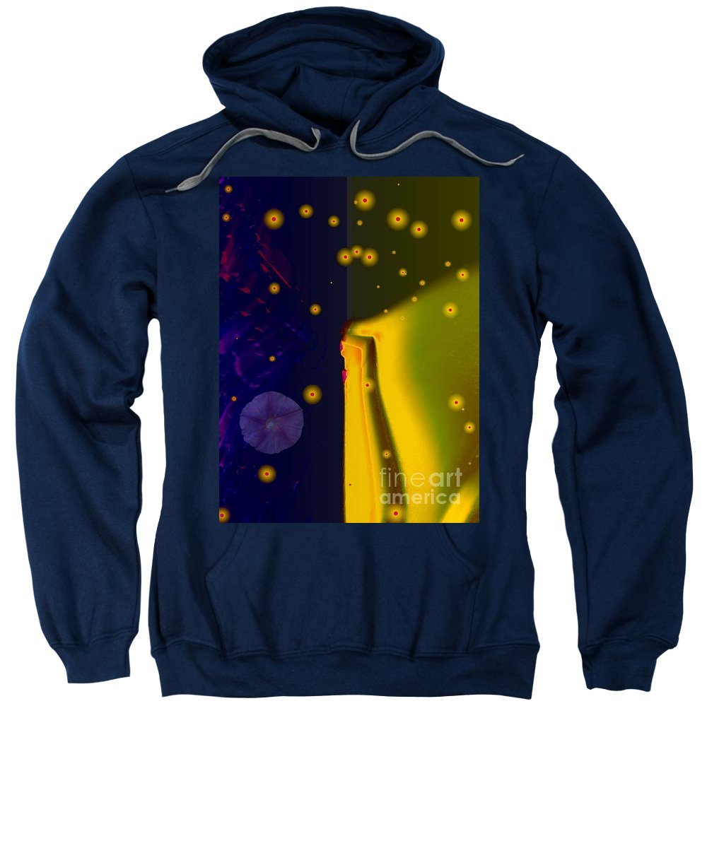 Blue Sweatshirt featuring the photograph Morning Glory Dream by Dawn Downour