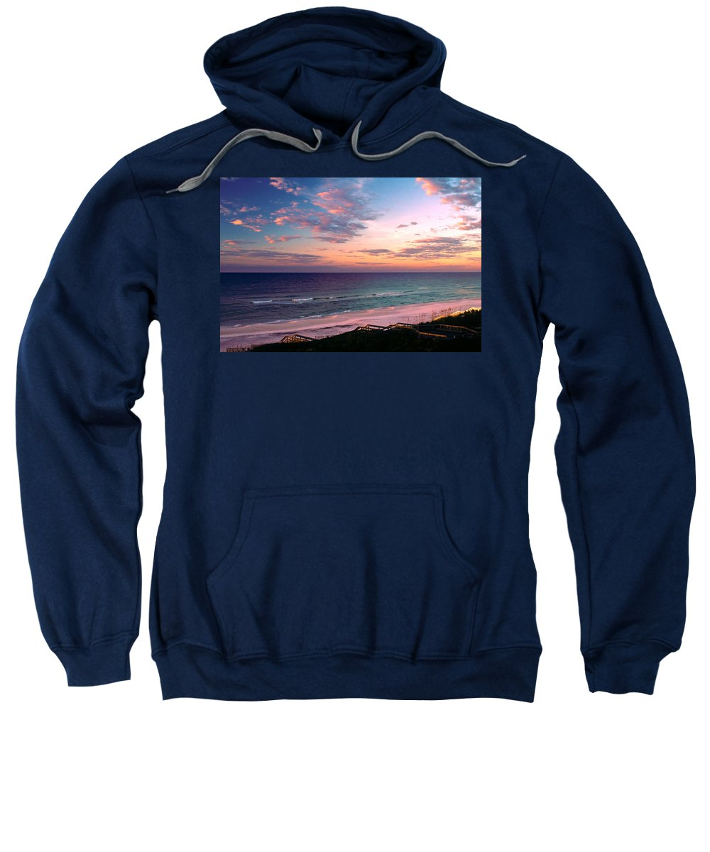 Rosemary Beach Sweatshirt featuring the photograph Morning Light On Rosemary Beach by Marie Hicks