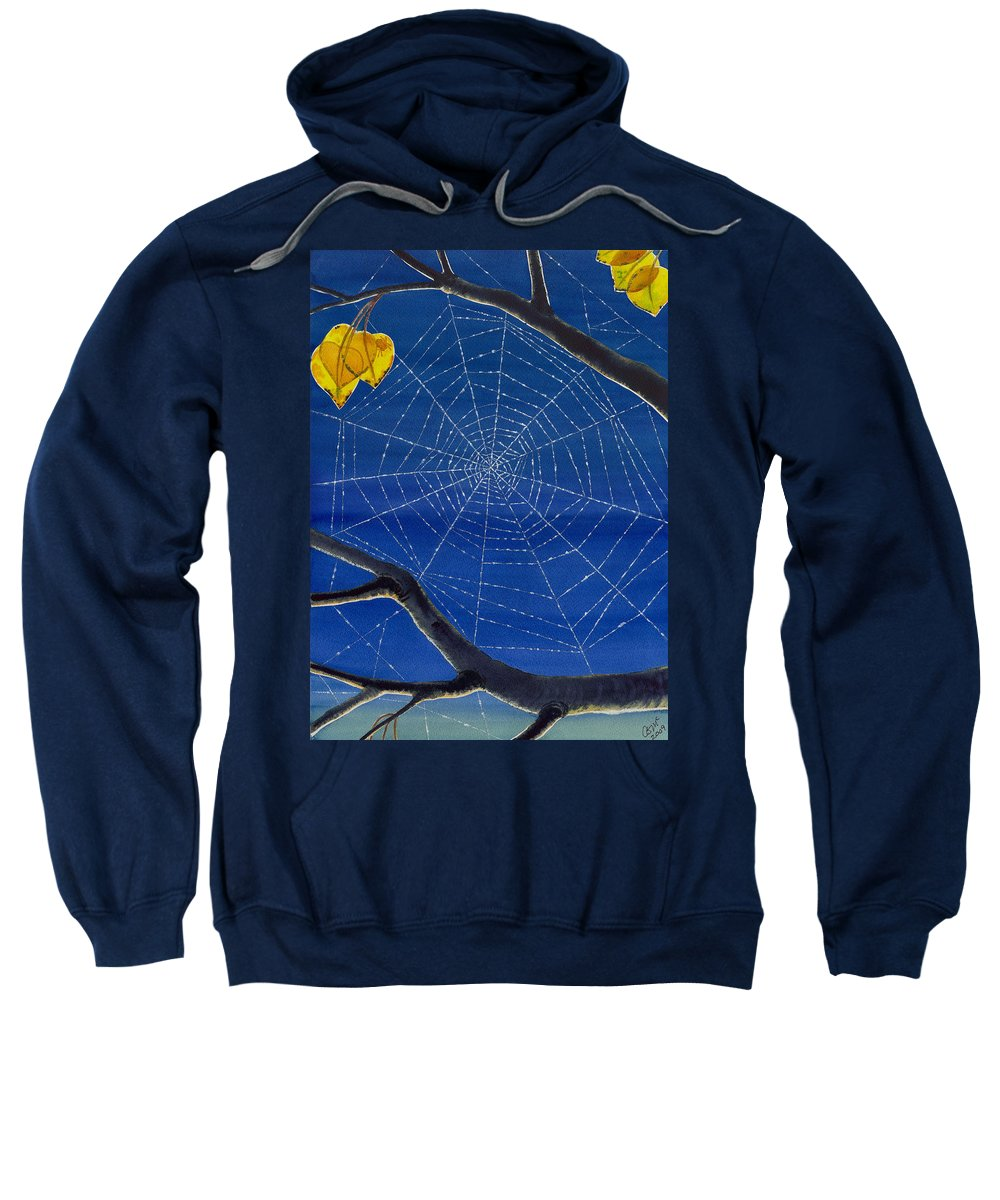 Aspen Sweatshirt featuring the painting Morning Magic by Catherine G McElroy