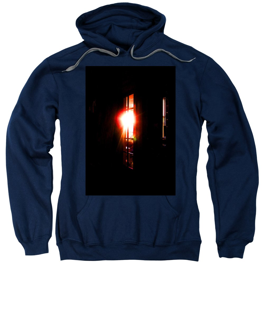 Abstract Sweatshirt featuring the digital art Morning Reflections by Rachel Christine Nowicki