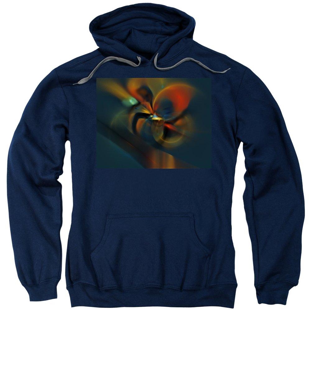 Digital Painting Sweatshirt featuring the digital art Mornings Slippery Slope by David Lane