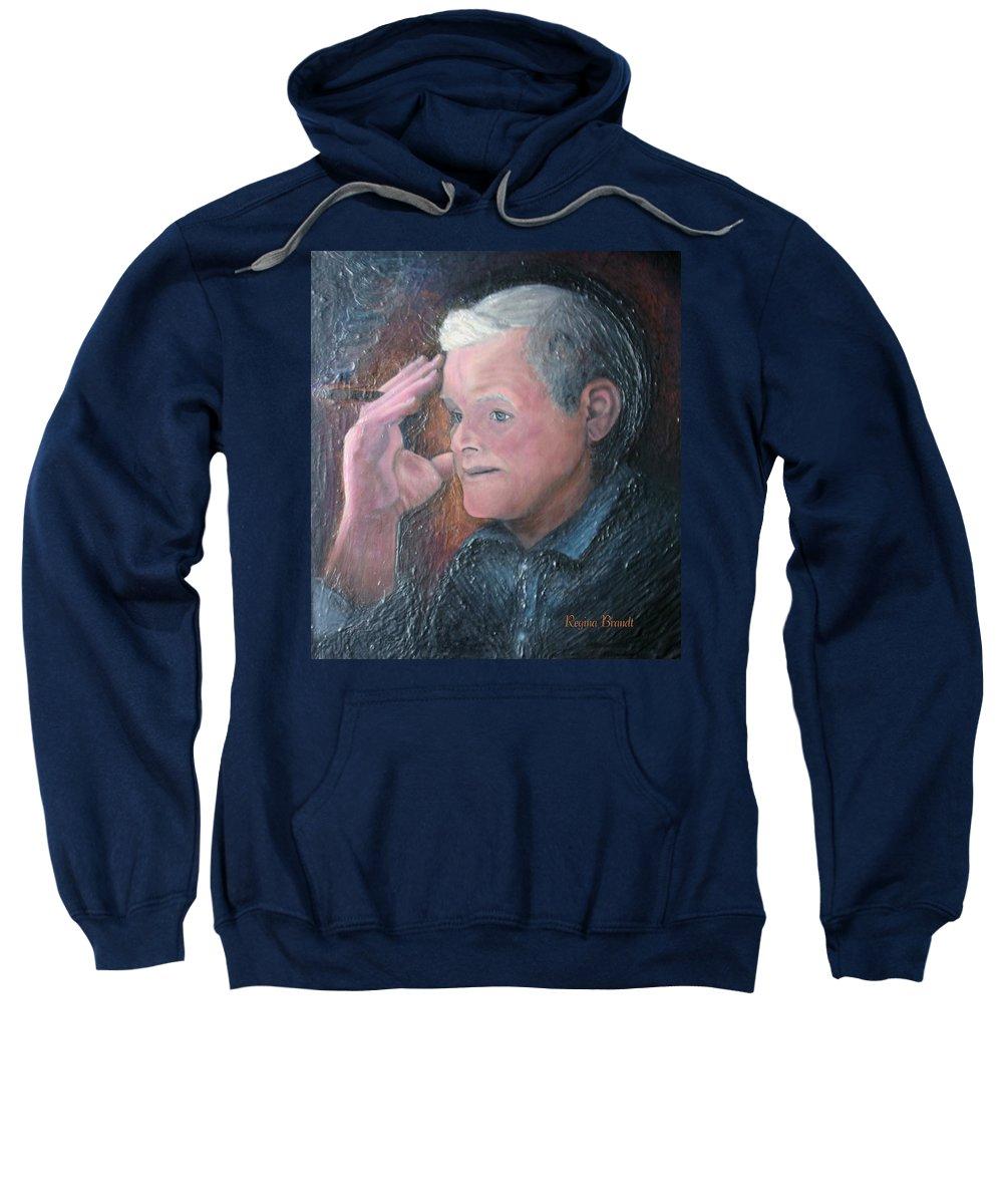 Portrait Sweatshirt featuring the painting Morris by Regina Brandt