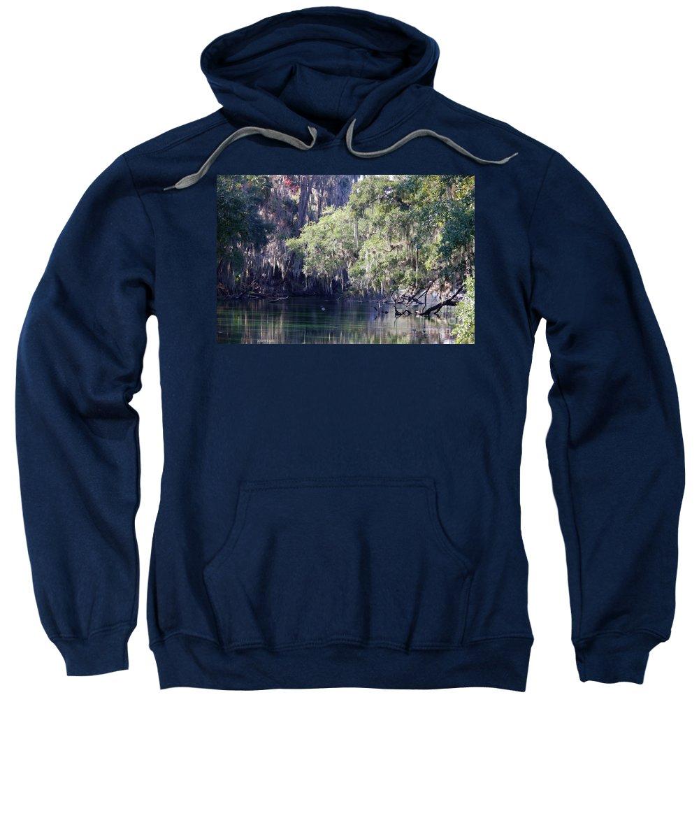 Trees Sweatshirt featuring the photograph Moss At Blue Springs by Deborah Benoit