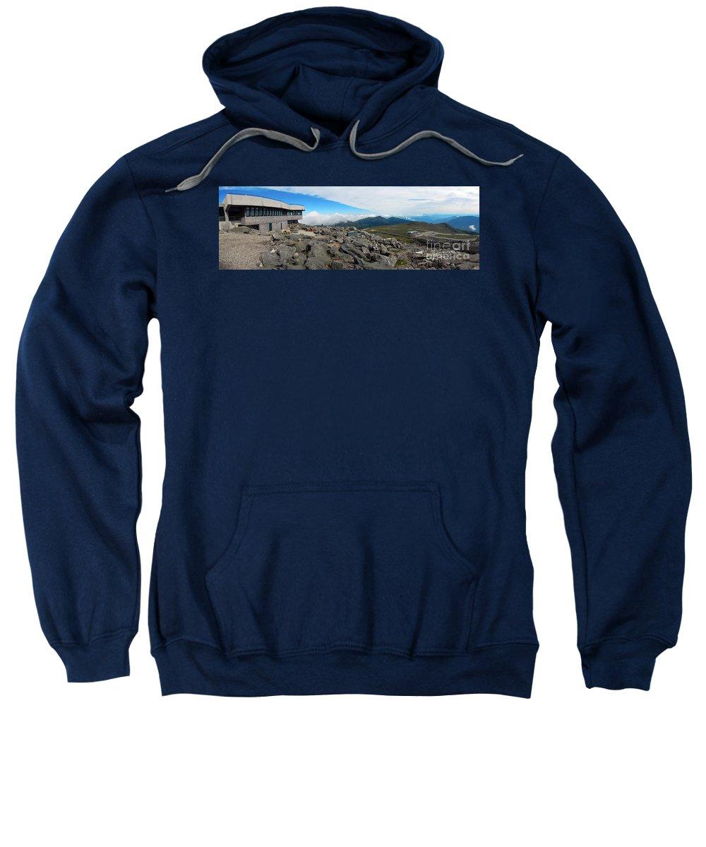 Mount Washington Observatory Sweatshirt featuring the photograph Mount Washington Observatory by Glenn Gordon