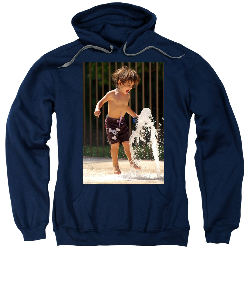 Kid Sweatshirt featuring the photograph Movement Contest 3 by Jill Reger