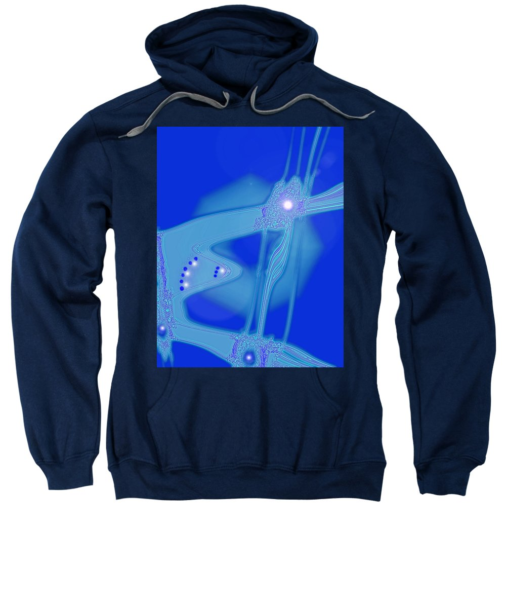 Moveonart! Digital Gallery Sweatshirt featuring the digital art Moveonart Creative Peaceful Creature Three by Jacob Kanduch