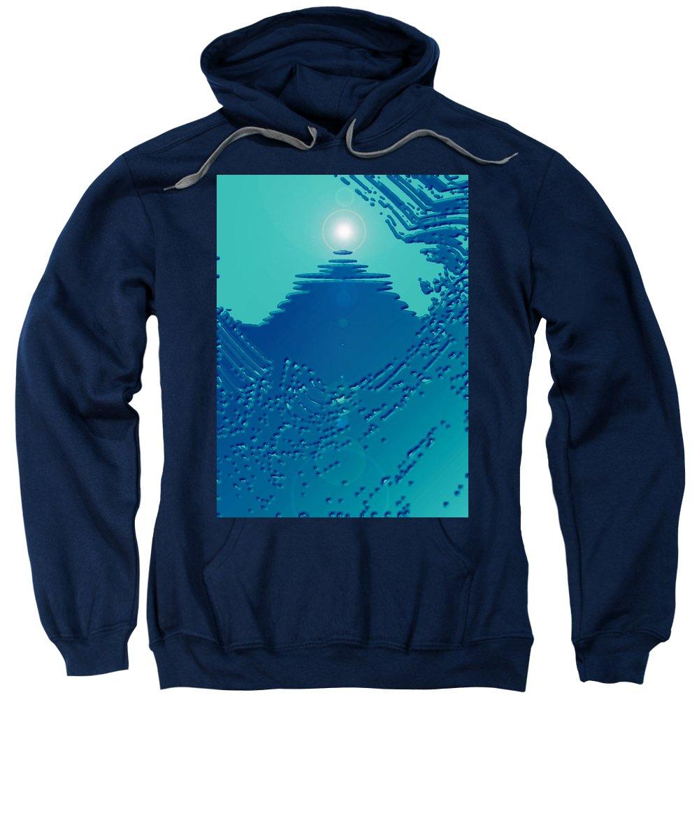 Moveonart! Digital Gallery Sweatshirt featuring the digital art Moveonart Green Memories One by Jacob Kanduch