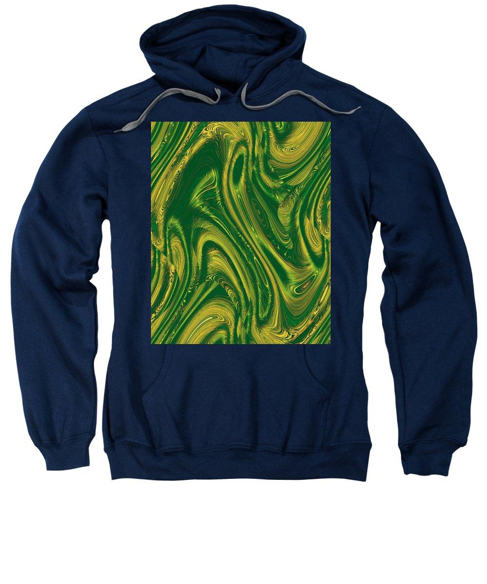 Moveonart! Digital Gallery Sweatshirt featuring the digital art Moveonart Opportunity Within Chaos by Jacob Kanduch