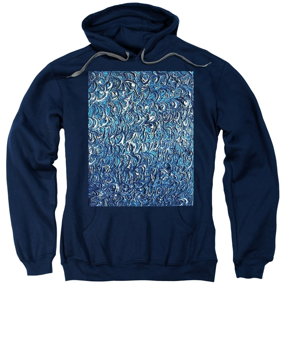 Moveonart! Digital Gallery Sweatshirt featuring the painting Moveonart Waves In The Water by Jacob Kanduch