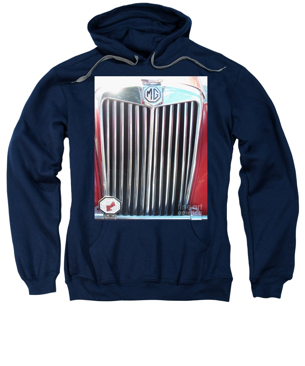 Mg Sweatshirt featuring the painting Mtg Chrome Grill by Eric Schiabor