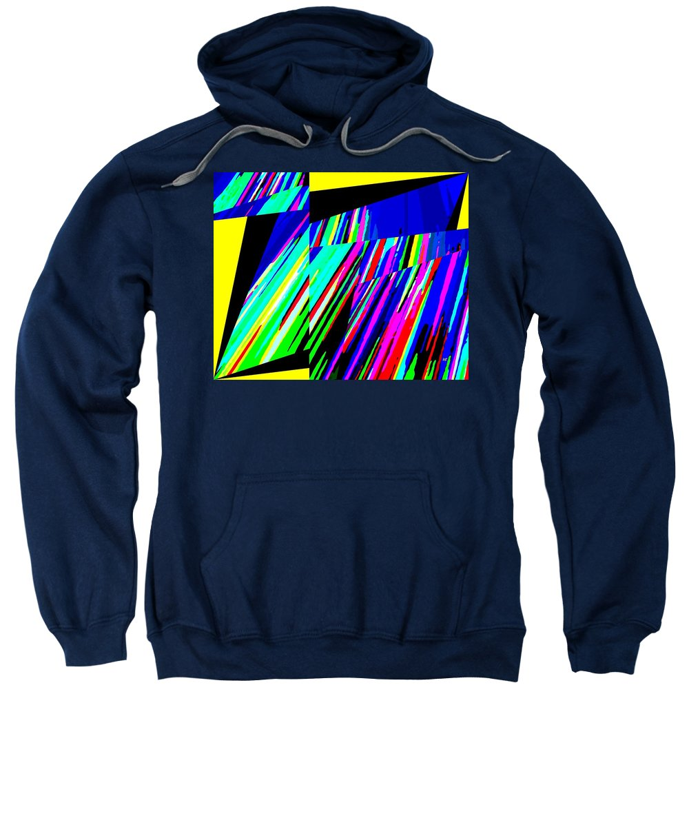 Abstract Sweatshirt featuring the digital art Muse 5 by Will Borden