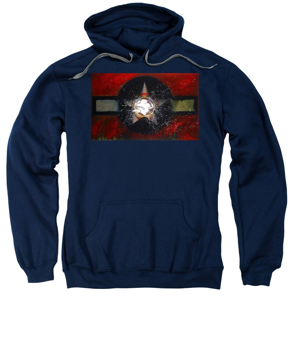 Usaaf Insignia Sweatshirt featuring the painting My Indian Red by Charles Stuart