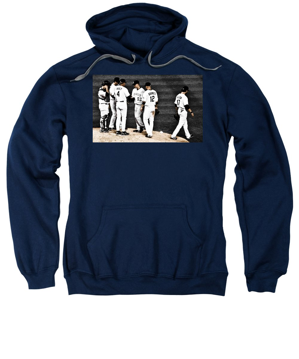 Baseball Sweatshirt featuring the photograph My Rock Collection - Colorado Rockies by Marilyn Hunt