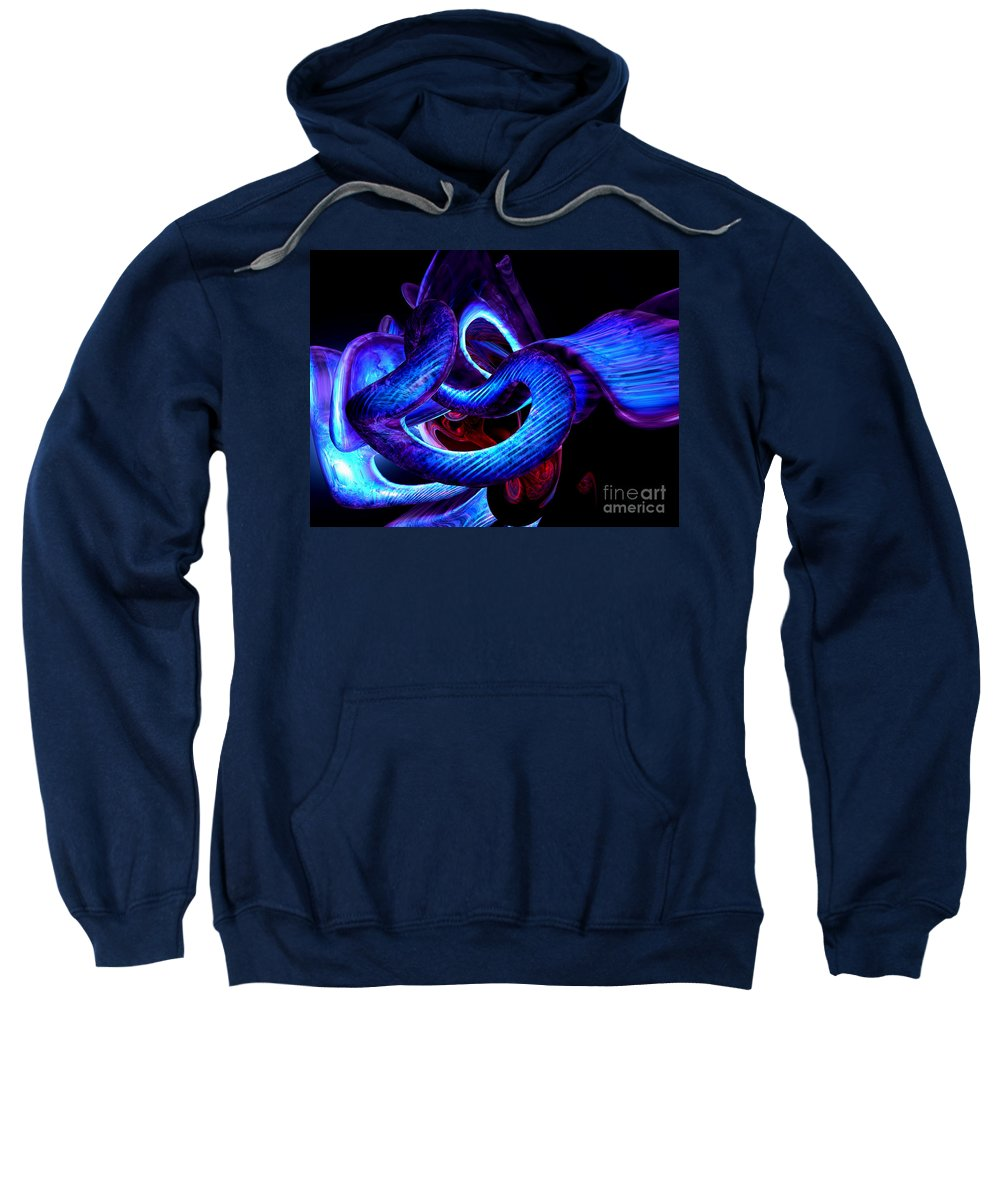 3d Sweatshirt featuring the digital art Mystic Love Abstract by Alexander Butler