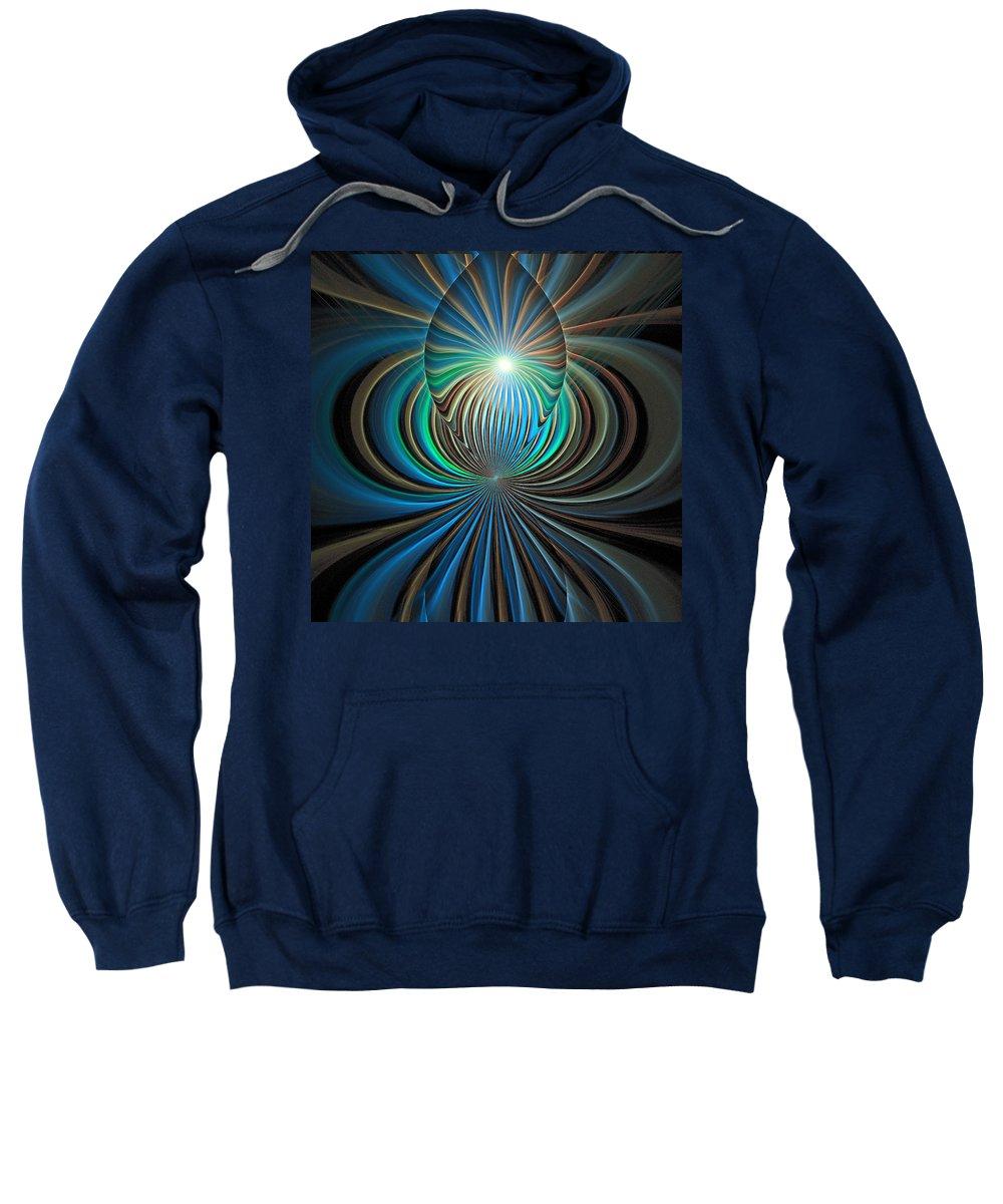 Digital Art Sweatshirt featuring the digital art Namaste by Amanda Moore