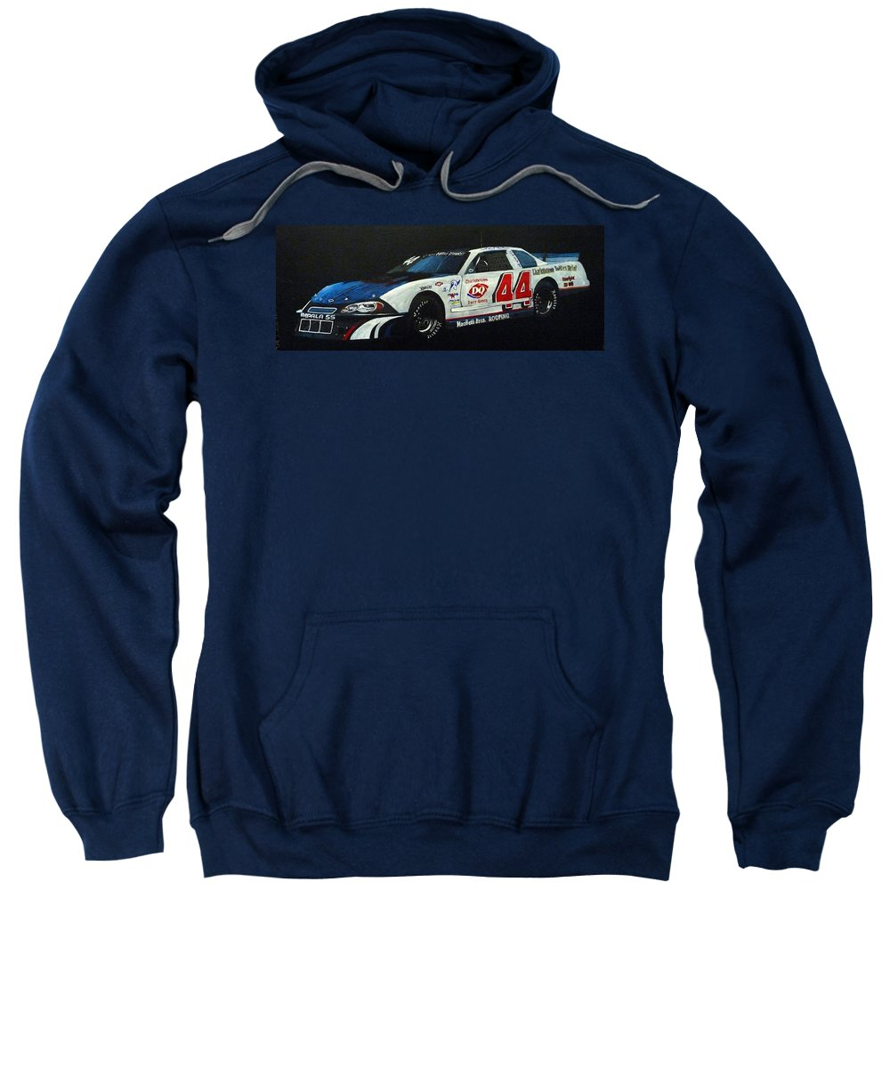 Nascar Sweatshirt featuring the painting Nascar No44 by Richard Le Page