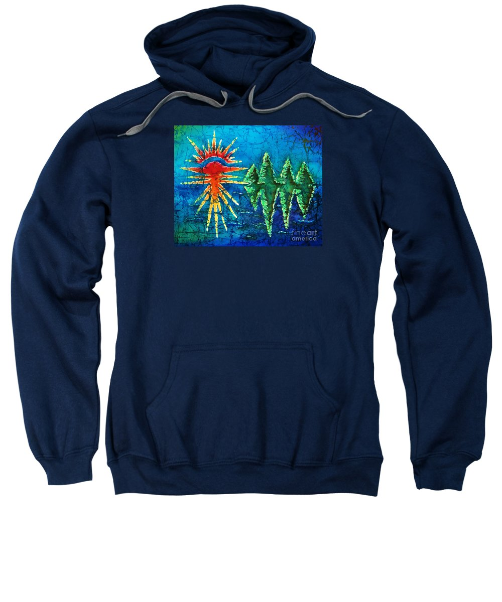 Trees Sweatshirt featuring the painting Nature by Sue Duda