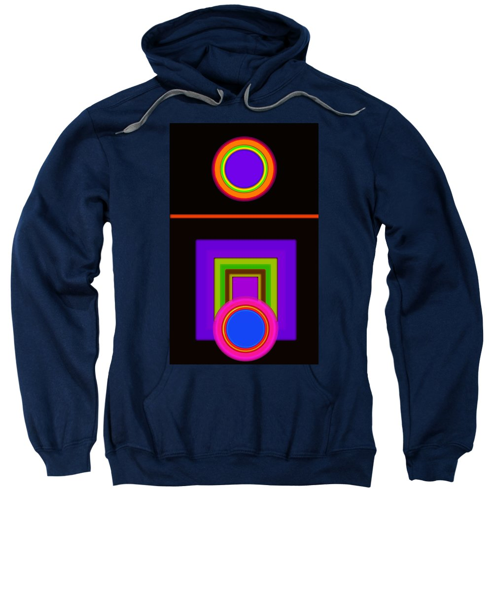 Classical Sweatshirt featuring the digital art New Black Classic by Charles Stuart