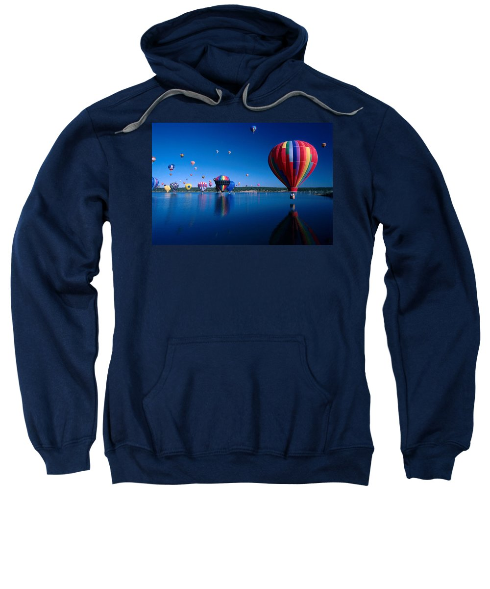 Hot Air Balloon Sweatshirt featuring the photograph New Mexico Hot Air Balloons by Jerry McElroy