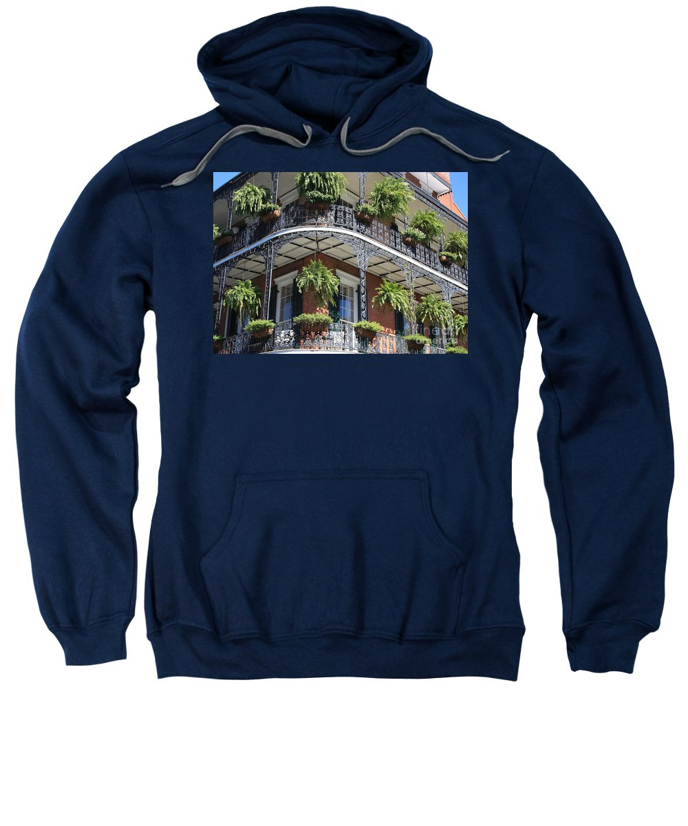 New Orleans Sweatshirt featuring the photograph New Orleans Balcony by Carol Groenen