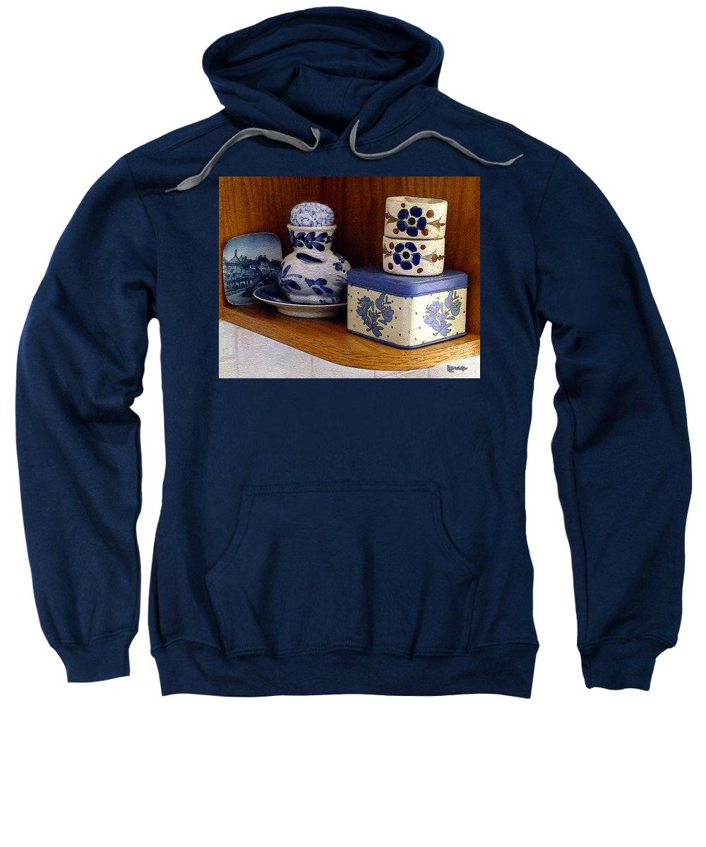 Box Sweatshirt featuring the digital art New Shelf Old Memories by RC DeWinter